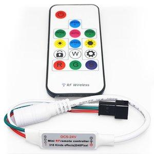 LED Controller with RF Remote Control SP103E (RGB, WS2801, WS2811, WS2812, WS2813 5 V)