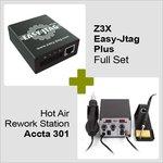 Z3X Easy-Jtag Plus kit completo + Estación de soldadura de aire caliente Accta 301 (220 V)