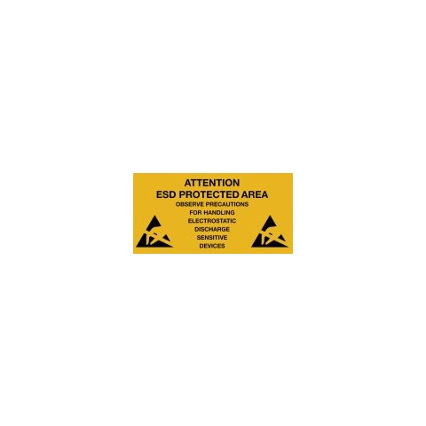 Наклейки попередження про антистатичну безпеку Warmbier 2850.300500.D  10 шт.
