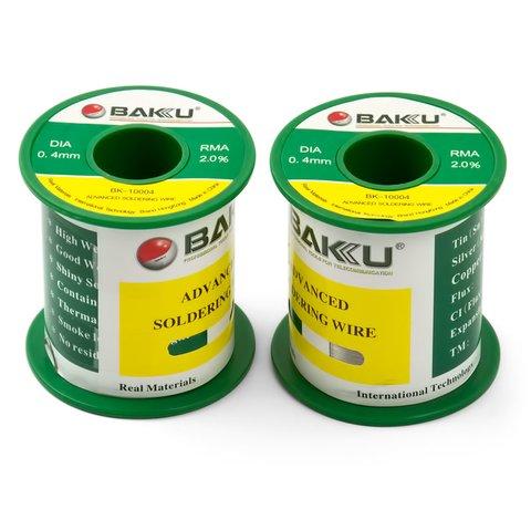Припій BAKU BK 10004, Sn 97%, Ag 0.3%, Cu 0.7%, flux 2%, 0,4 мм, 100 г
