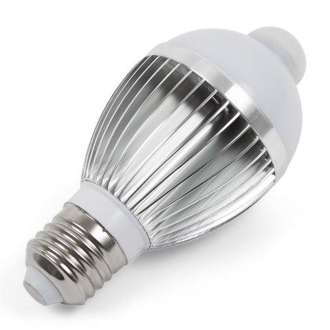 Світлодіодна лампа з ІЧ сенсором руху 5 Вт холодний білий, 450 лм, Е27