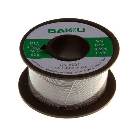 Припій BAKU BK 5005, sn 63%, pb 35,1%, 50 г, 0,5 мм, флюс 1,9%
