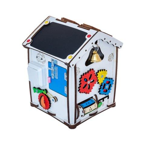 Бизиборд GoodPlay Развивающий домик с подсветкой 24×24×30