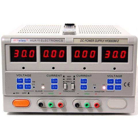 Double DC Power Supply  2x0 30 V; 2x0 3 A  HYelec HY3003M 2